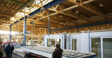 Panel production in process at Huber & Sohn (German manufacturer). Source: BRANZ: http://goo.gl/rlwxN7
