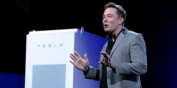 Tesla founder Elon Musk has unveiled new lithium-ion batteries for home and commercial use. Photo / Getty Images