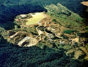 Golden Cross mine, Coromandel, in 1995. Between 1991 and 1998 Golden Cross produced 660,000 oz of gold, and 1.7m oz of silver, worth more than $1 billion at today's prices. At the time the mine employed 243 staff, plus 750 contractors and suppliers.