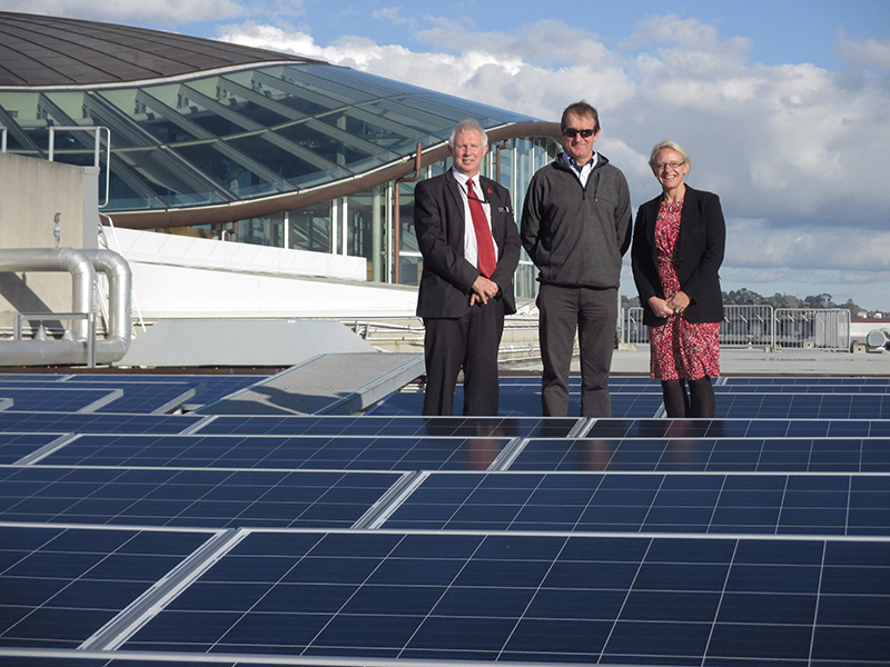 Solar panel installation on Auckland Museum's roof